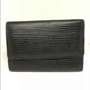EUC Authentic Louis Vuitton Black Epi Key Holder